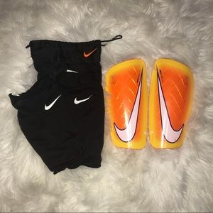 Soccer shin guards and sleeves